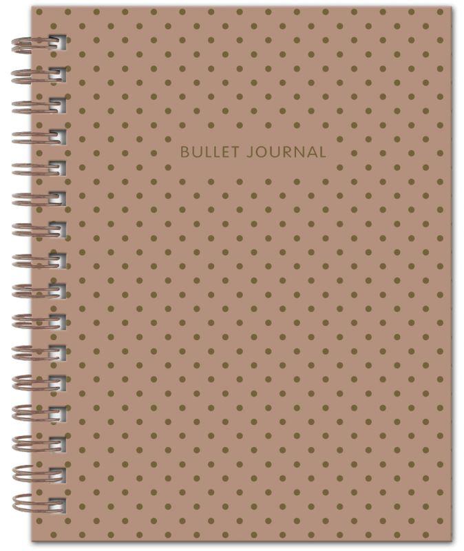 Книга для записей Bullet Journal, 60 листов, кофейная