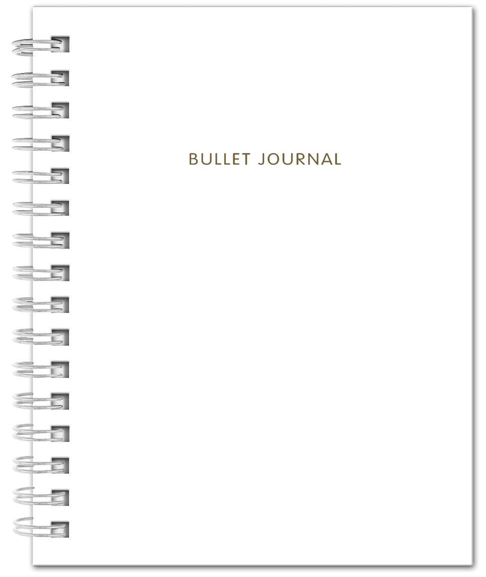Bullet Journal (Белый) 162x210мм, твердая обложка, пружина, блокнот в точку, 120 стр.