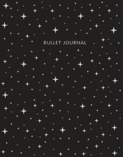 Книга для записей Bullet Journal, 60 листов, черная - фото 1