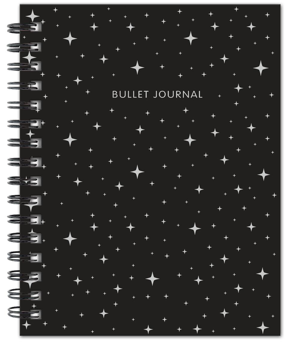 Bullet Journal (Черный) 162x210мм, твердая обложка, пружина, блокнот в точку, 120 стр. bullet journal бирюзовый 162x210мм твердая обложка пружина блокнот в точку 120 стр