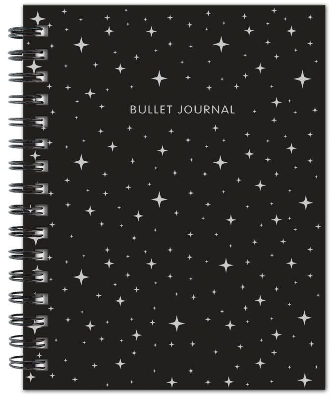 Bullet Journal (Черный) 162x210мм, твердая обложка, пружина, блокнот в точку, 120 стр.