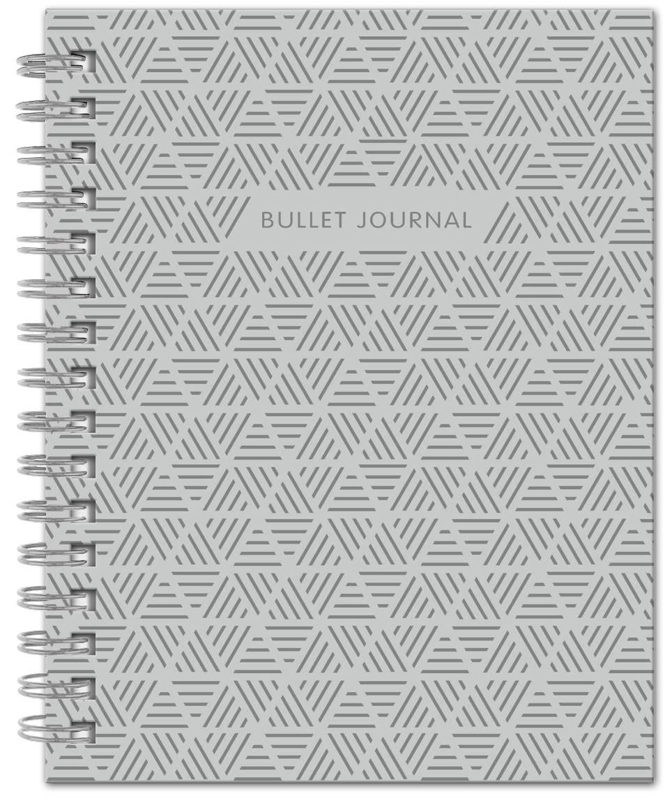 Bullet Journal (Серый) 162x210мм, твердая обложка, пружина, блокнот в точку, 120 стр.