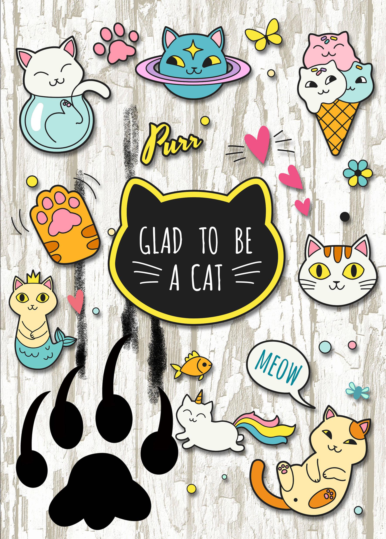 Glad to be a cat. Тетрадь школьная в мягкой обложке, 48 л.