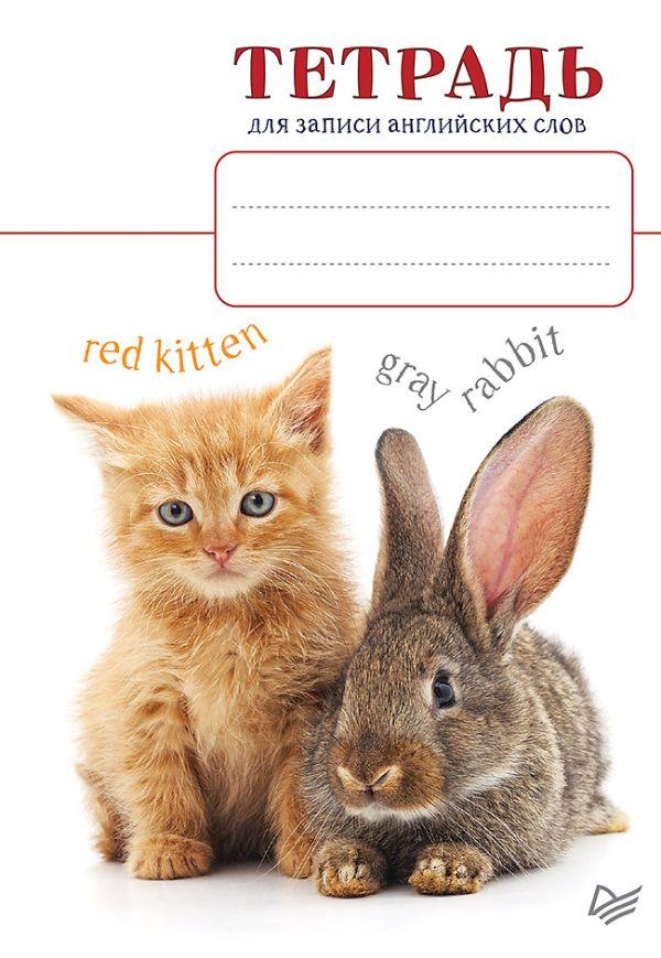 Тетрадь для записи английских слов_Котенок и кролик цена