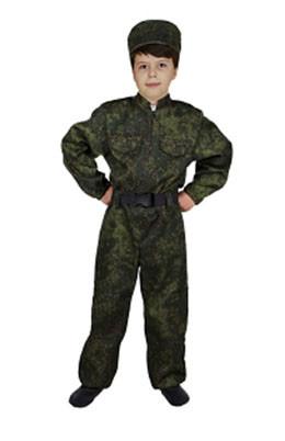 Костюм военного (комбинезон, кепка, ремень)