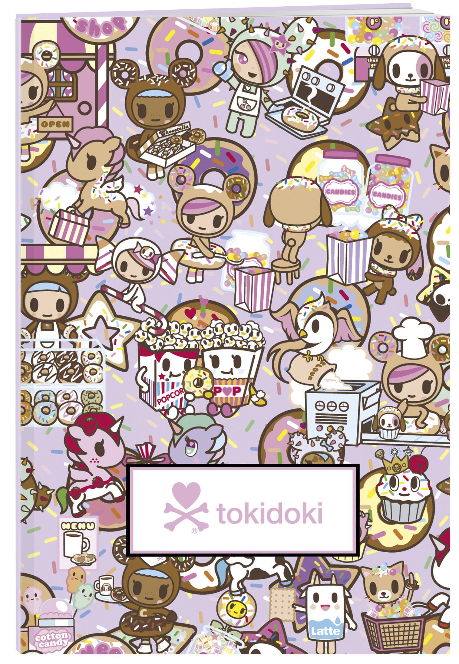 tokidoki. Пончики. Тетрадь (А5, 48 л., УФ-лак, накидки)