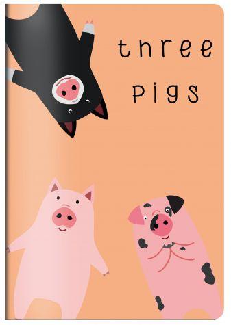 Three pigs. Тетрадь общая (А5, 48 л., УФ-лак, накидка 4 п. полноцвет)