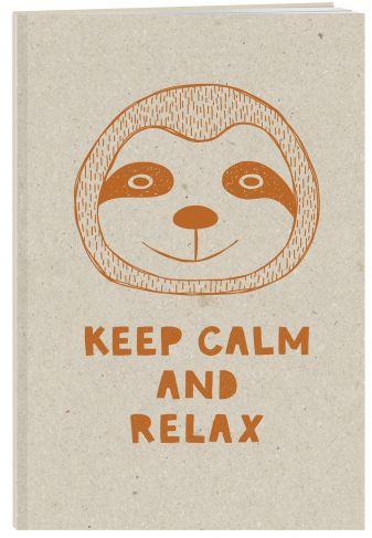 Keep calm and relax. Тетрадь (А5, 48 л., УФ-лак, накидки)