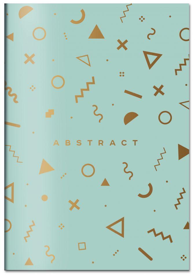 Abstract (мятный). Тетрадь общая (А5, 48 л., зол. фольга, накидка 4 п. полноцвет)