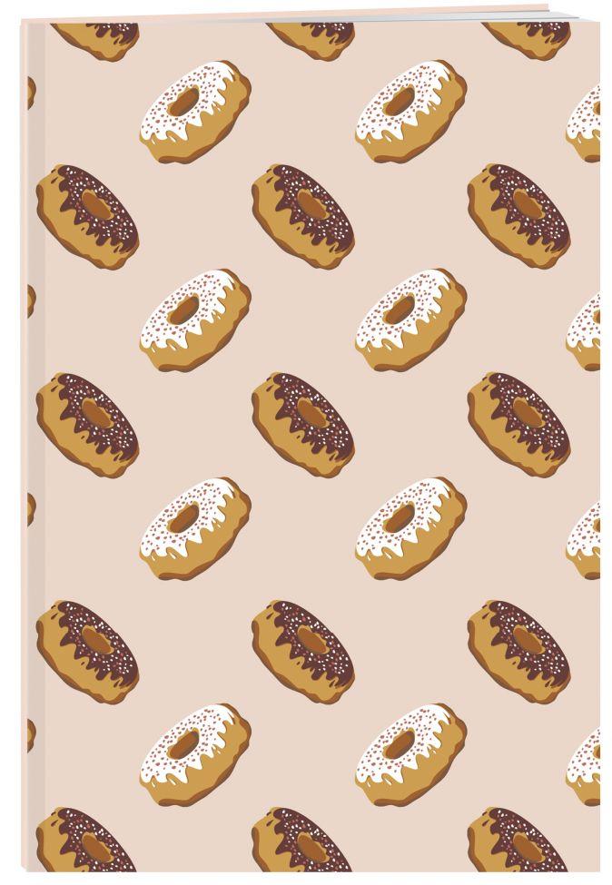 Пончики. Тетрадь (А5, 48 л., УФ-лак, накидки)