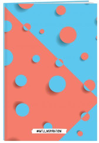 WTJ_inspiration. Тетрадь (А4, 40 л., УФ-лак, оранжево-голубая)