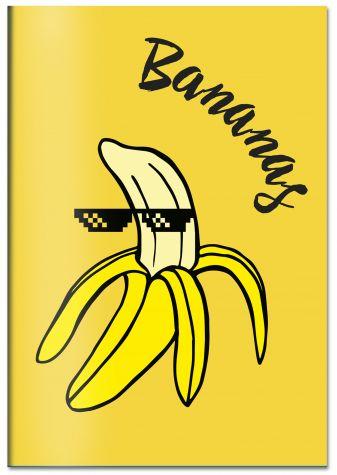 Bananas. Тетрадь общая (А5, 48 л., УФ-лак, накидка 4 п. полноцвет)
