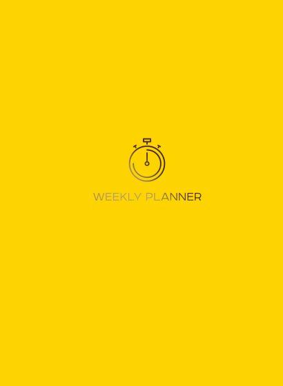 Блокнот-планер на пружине (желтый). А5, твердый переплет, фольга, недатированный, 128 стр. - фото 1