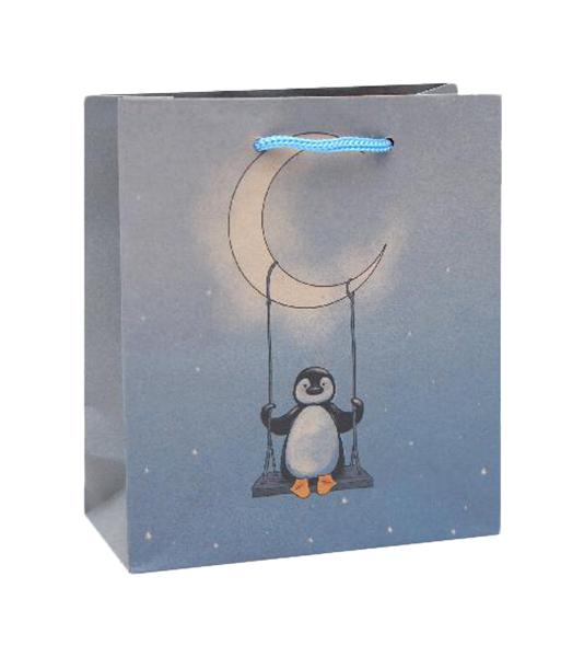 Пакет подарочный  Мистер пингвинчик (S - Kraft) 12 шт. ПКП-1757