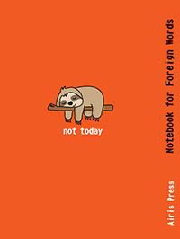 Тетрадь для записи иностранных слов. (Сонный ленивец) - фото 1