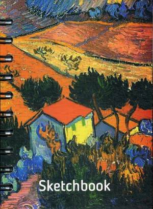 Блокнот. Скетчбук. А6. Ван Гог. Пейзаж с домом и пахарем