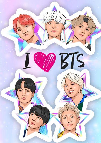 Обложка для паспорта. I love BTS - фото 1