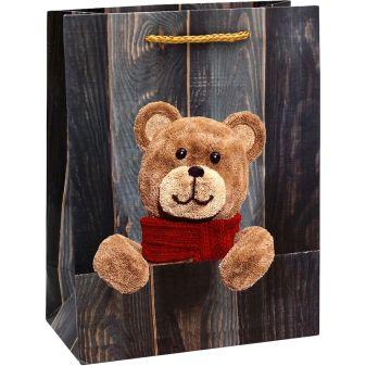 Dream cards Пакет подарочный с мат. лам. 18х23х10 см (M) Симпатичный медвежонок, 210 г ПКП-8697
