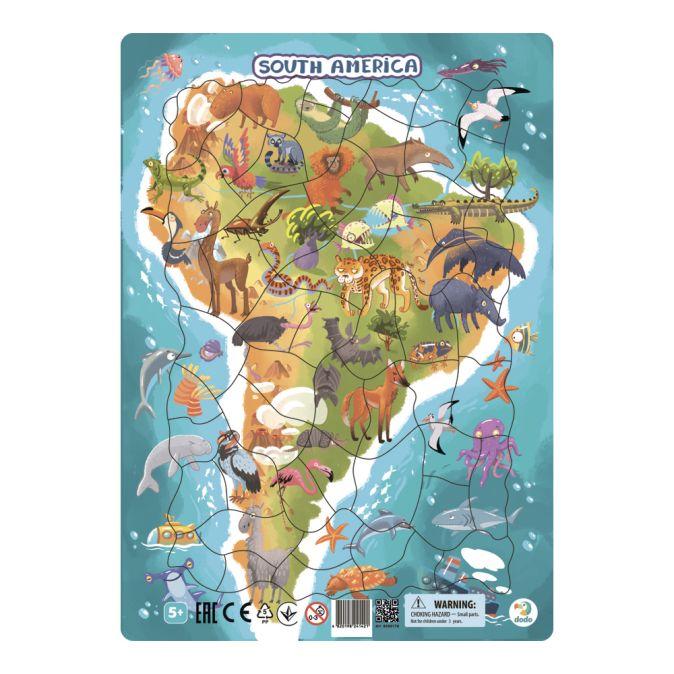 "Пазл в рамке ""Южная Америка"" 53 элемента"