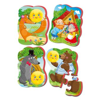 "Мягкие пазлы Baby puzzle Сказки ""Колобок"" NEW"