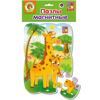 """Пазлы на магните """"Жирафик"""""""