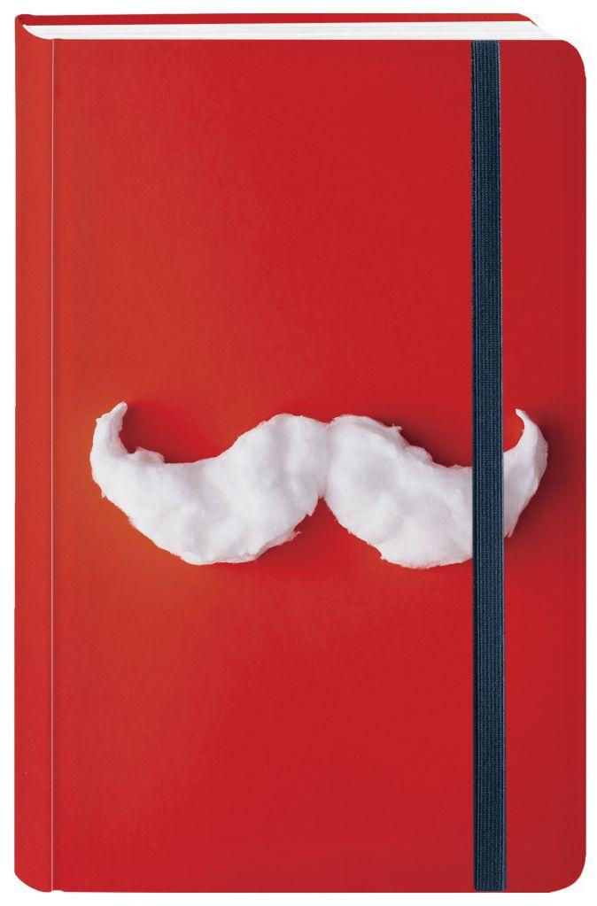 """Блокнот с резинкой """"Усы Деда Мороза"""" (красный). А5, твердый переплет, 192 стр."""