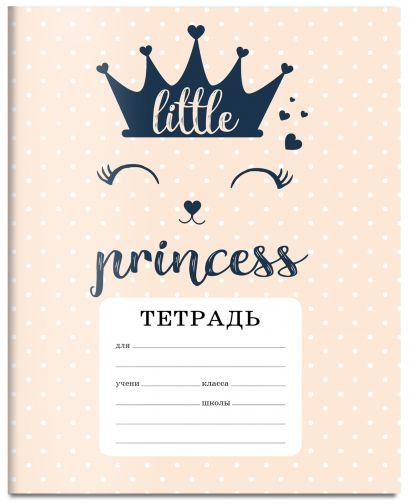 Тетрадь ученическая в клетку для младших классов CAT: A little princess, 12 листов - фото 1