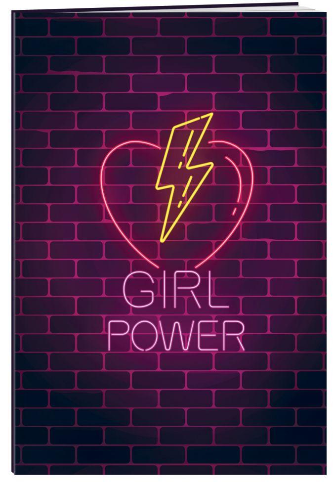 Girl Power. Тетрадь общая (А5, 48 л., накидки, клетка-стандарт)