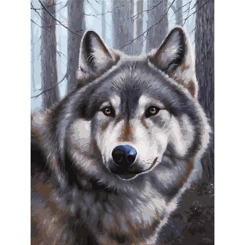 Живопись на картоне. Волк (3090-CS) - 3090-CS Волк обложка книги