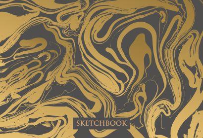 Скетчбук «Жидкое золото», B5, 64 листа - фото 1