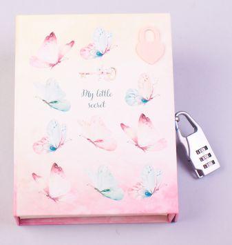 Блокнот с замочком. Танец бабочек (в подарочном коробе, 160 стр., цветной)