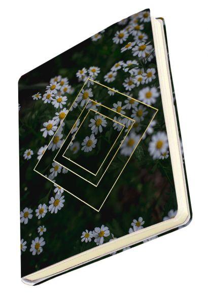 Тетрадь в мягкой пластиковой обложке «Ромашки», А5, 80 листов - фото 1