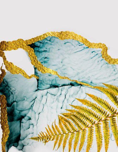 Тетрадь общая на кольцах «Золотой папоротник», А5, 100 листов - фото 1