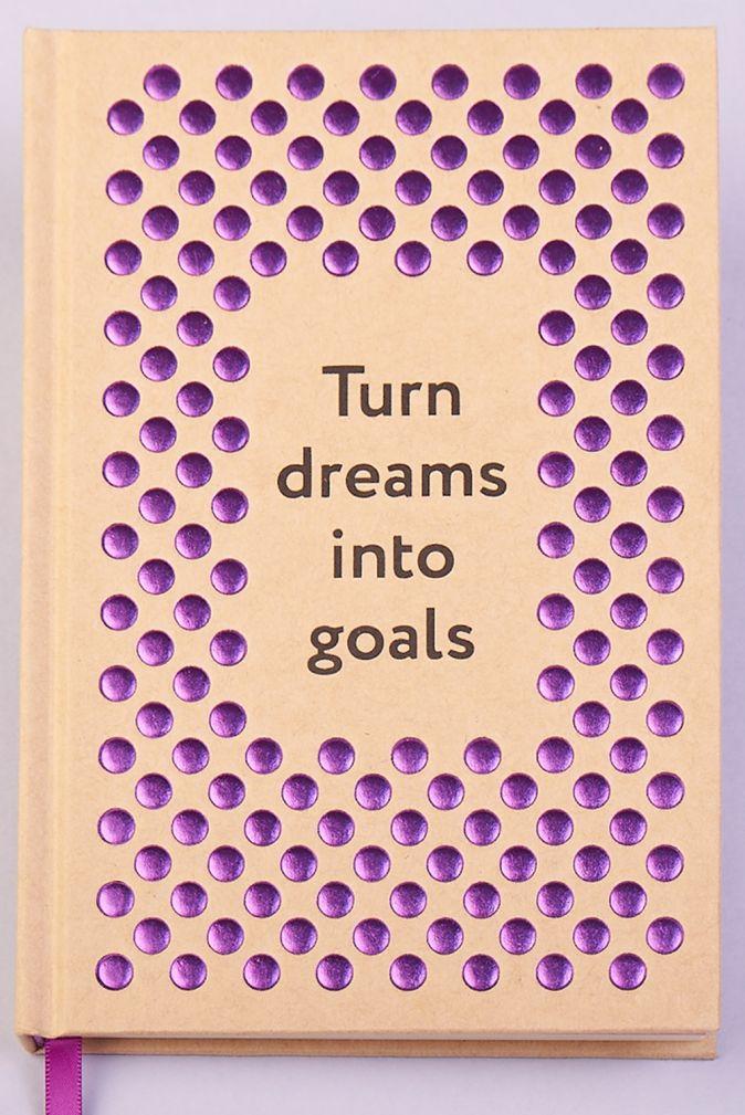 Блокнот. Сочиняй мечты. Крафт, объемные элементы, тиснение фиолетовое, 160 с, кремовая бумага