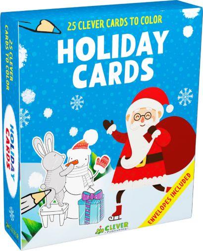 Holiday Cards (25 новогодних открыток-раскрасок) - фото 1