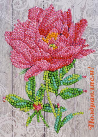 Алмазные открытки. Поздравляем! - алмазная открытка (AZ009)