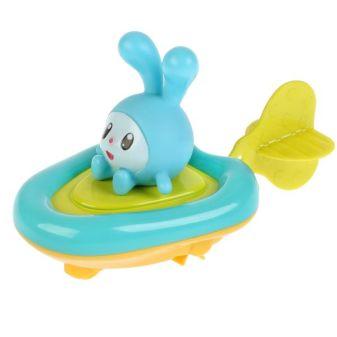 Игрушка пластизоль д/ванны Капитошка Малышарики, Лодка+Крошик выс.5,5см, блистер в кор.2*24шт