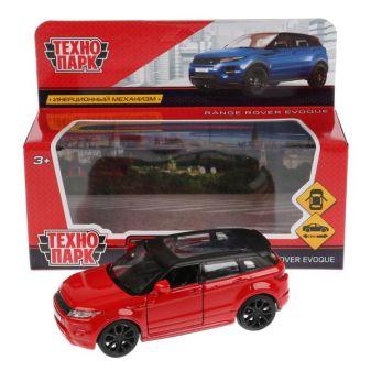 Машина металл LAND ROVER RANGE ROVER EVOQUE 12,5см,открыв двери,инерц, красный Технопарк в кор2*36шт