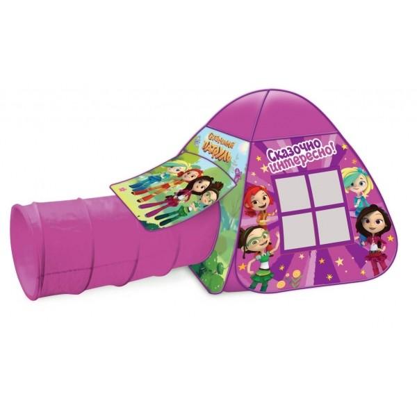 Палатка детская игровая Сказочный патруль с тоннелем, 87x95x95,46x100см, Играем вместе в кор.10шт
