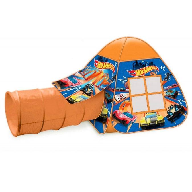 Палатка детская игровая ХОТ ВИЛС с тоннелем, 87x95x95,46x100см, в сумке Играем вместе в кор.10шт