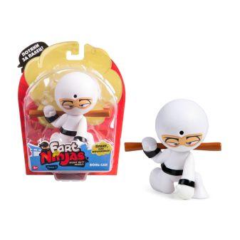 """Фарт Ниндзя.Игрушка """"Пукающий"""" Ниндзя белый с шестом.TM Fart Ninjas"""