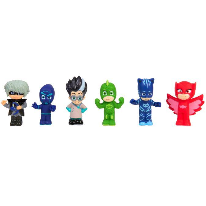 Герои в масках. Игровой набор для ванны, пластизоль, 6 шт. TM PJ Masks