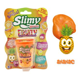 Слайми. Слайм с фруктовым запахом, ананас, 80 г. ТМ Slimy