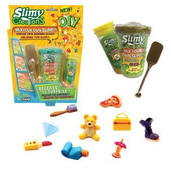 Слайми. Набор для создания слайма с игрушкой, золотой. ТМ Slimy
