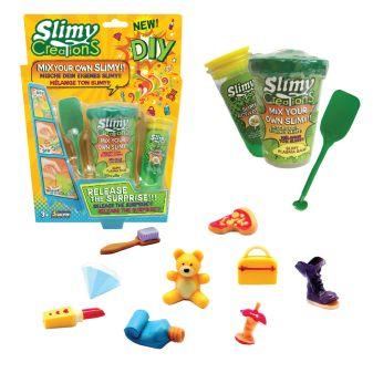Слайми. Набор для создания слайма с игрушкой, зеленый. ТМ Slimy