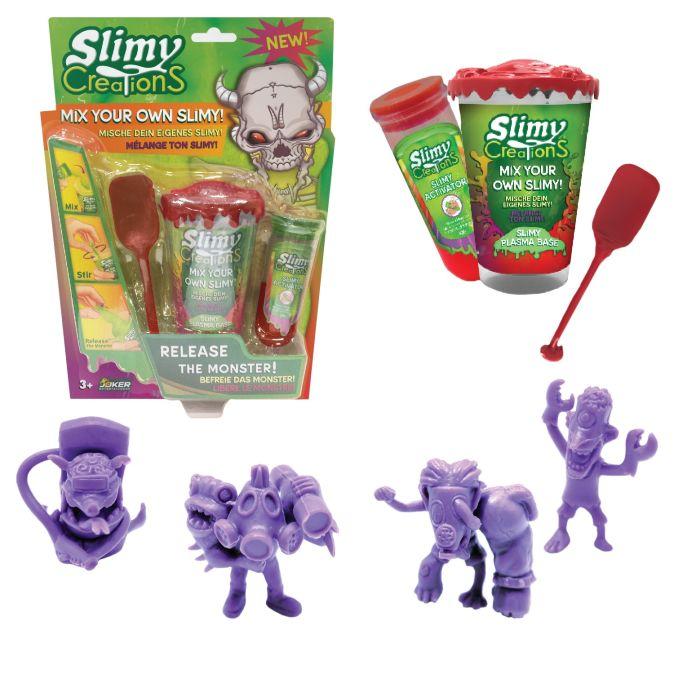 Слайми. Н-р для создания слайма Монстры с игрушкой, красный. ТМ Slimy