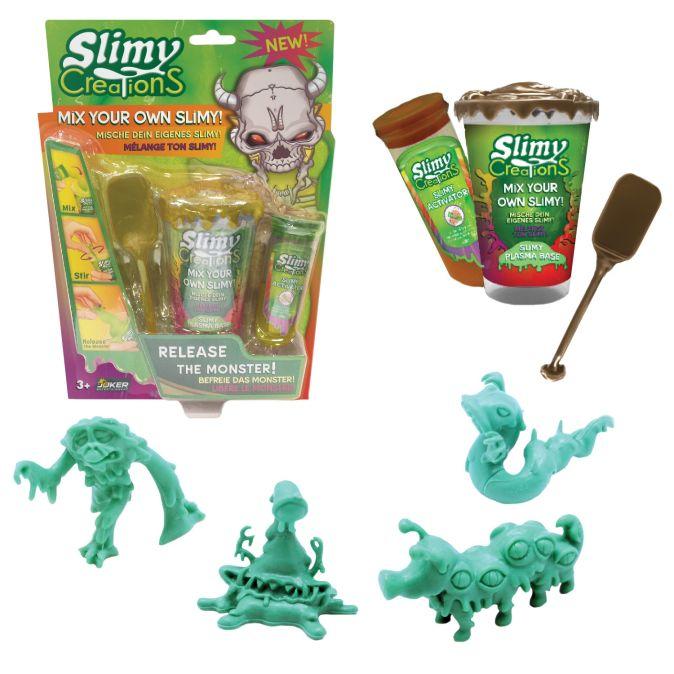 Слайми. Н-р для создания слайма Монстры с игрушкой, золотой. ТМ Slimy