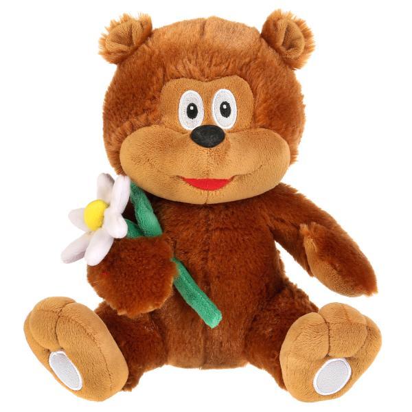 """Игрушка мягкая медвежонок """"трям, здравствуйте!"""", 23см, муз. чип, в пак. Мульти-пульти в кор.24шт"""