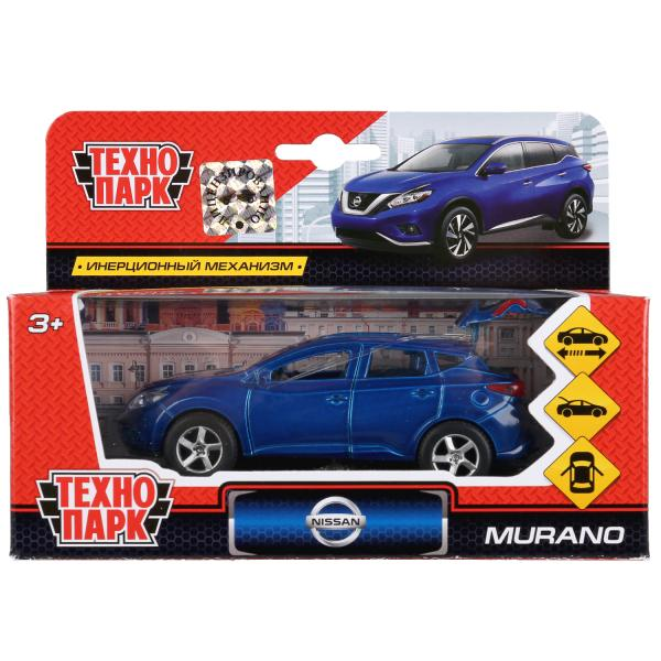 Машина металл NISSAN MURANO 12см, открыв.двери, инерц., синяя в кор. Технопарк в кор.2*24шт
