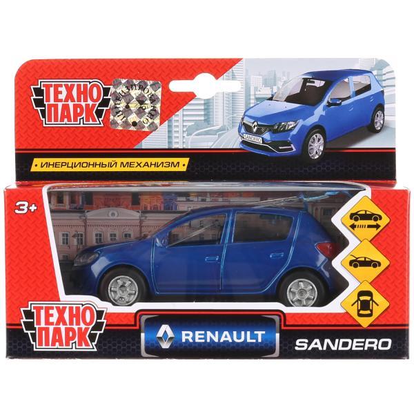 Машина металл RENAULT Sandero 12см, открыв. двери и багажник, инерц. в кор. Технопарк в кор.2*24шт